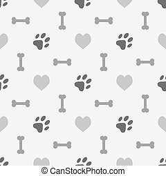 Background with dog footprint