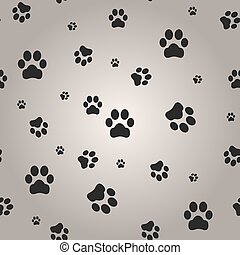 Background with dog paw print. Vector Illustration