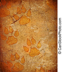 background with dog paw prints