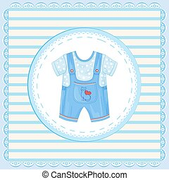 background with dungarees for baby boy