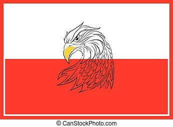 background with eagle,