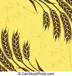 Background with ears of wheat.