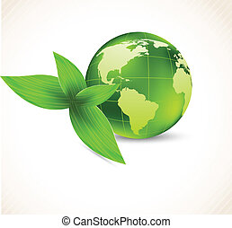 Background with earth and leaves