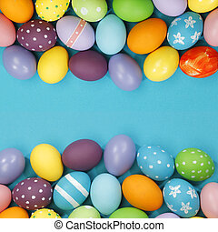 Background with Easter Eggs - Background with colorful...