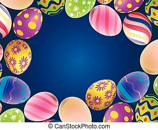 background with Easter eggs on the