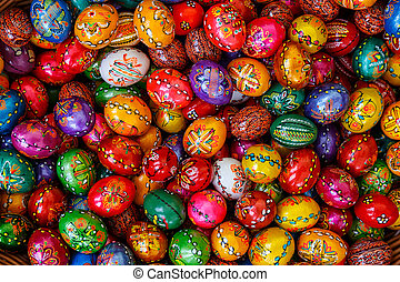 Background with Easter Eggs