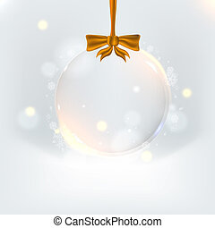 Background with elegant christmas ball. Eps 10. Vector illustration for your business presentation