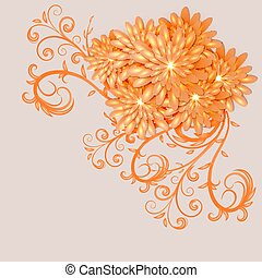 Background with elements of floral design