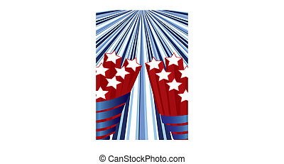 Background with elements of USA flag for independence day, vector illustration