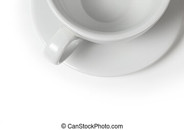 background with empty coffee cup