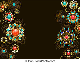 Background with ethnic ornaments