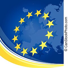 Background with European Union symbolics