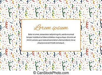 Background with exploding party popper and text space, a4 size illustration