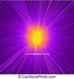Background with explosion. Starburst dynamic lines. Solar or...