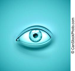 Background with eye, eps 10