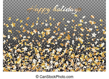 Background with falling stars of confetti