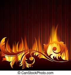 Background with flame.