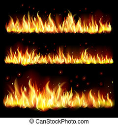 Background with flame. - Black background with flame.EPS10....