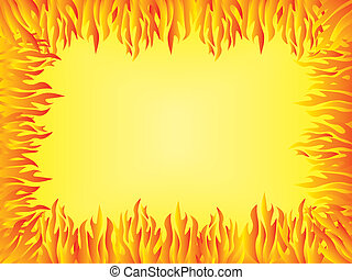 background with flames border