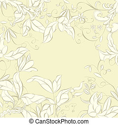 Background with floral element