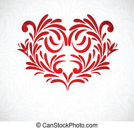 Background with floral heart