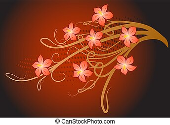 Background with flower.