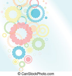 Background with flower shape