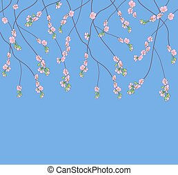 Background with flowering branches
