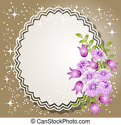Background with flowers and napkin