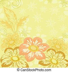 Background with flowers dahlia
