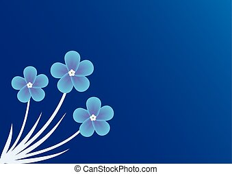 background with forget-me-not