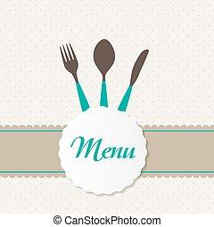 Background with Forks, Spoons end Knifes. Vector Illustration