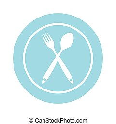 Background with Forks, Spoons. Vector Illustration