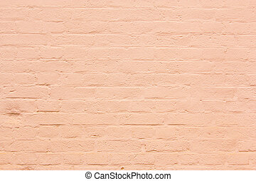 background with fragment of orange brick wall