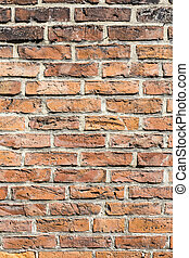 fragment of red brick wall