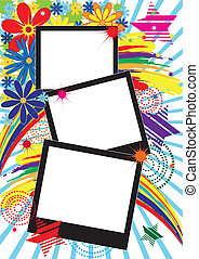 background with frames
