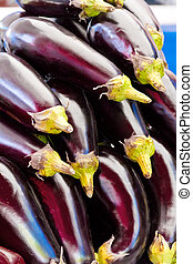 Background with fresh eggplant - Photo of the background...