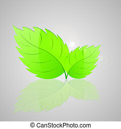 Background with fresh green leaves.