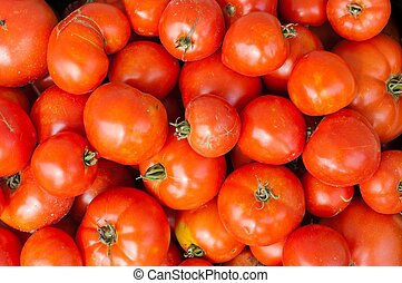 Background with fresh tomatoes
