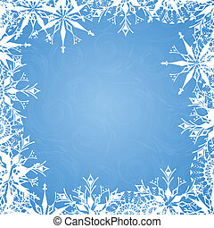 Background with frosty patterns - Blue background with...