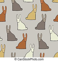 Background with funny hares