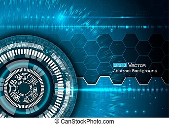 Background with futuristic elements