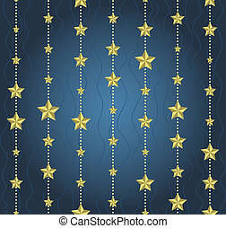 background with garlands of stars
