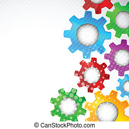 Background with gears - Bright background with color gears...