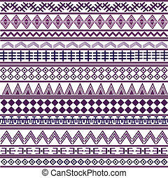Background with geometrical shapes, purple African motives