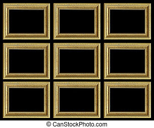 Background with gilded bronze frame - Texture, background...