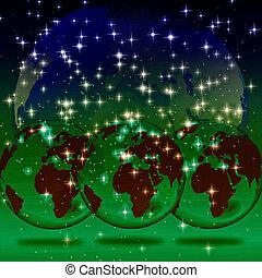 Background with globe