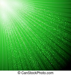 Background with glowing rays and shiny glitter