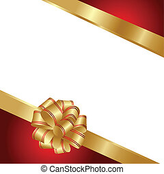 Background with gold and red ribbon