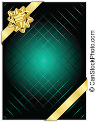 background with gold bow